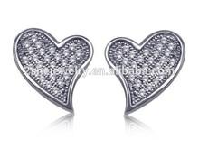 lead and nickel free earring heart