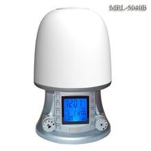 China manufacturer direct sale music led wake up light clock,wake up lamp with alarm clock radio