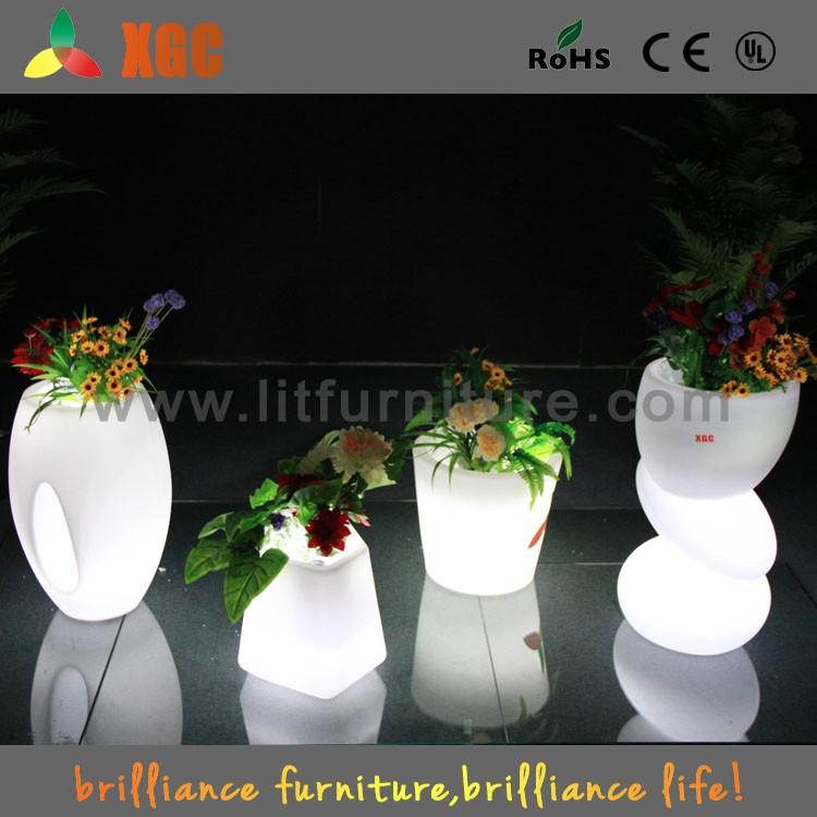 outdoor solar led plant pot light/led light pots/led illuminate flower pot