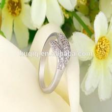 yiwu factory supply women ring silver golden friendship ring