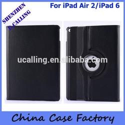 For iPad Air 2/iPad 6 Leather Case, For iPad Air 2 Rotation 360 Case