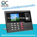 Biométricos oc061& oficina equipos de la escuela de huella digital tiempo de grabación de tiempo de presencia de terminal server