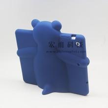 Custom personal design for ipad mini case,custom cute silicone case for ipad, bear animal shape silicone case