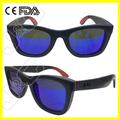 2014 promoción de madera y de bambú de diseño venta al por mayor réplica gafas de sol con encargo de la aduana