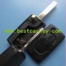 Low Price 4 button car key blanks for peugeot 407 key peugeot key case