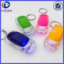 Promotion Custom Made LED Keyring Car Shape LED Keychain Light