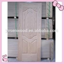 HDF/MDF natural wood veneer/melamine faced skin door