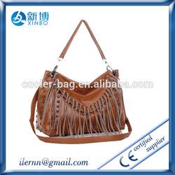 stylish high quality fashion brand hot sale women tassel vintage bag