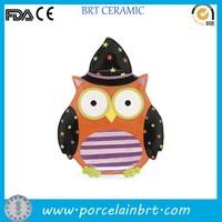 Ceramic decorative owl plaque Halloween Craft