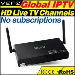 Android Quad core IPTV Set Top Box IPTV Streaming server