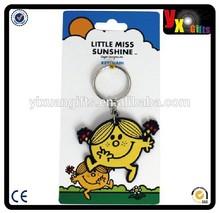 Little Miss Sunshine PVC Keychain/small teddy bears