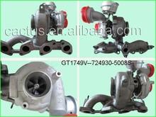 Seat Alhambra turbocharger GT1749V 724930-5008S for VW sharan 1.9TDI