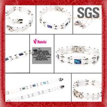 Circulation arrow chain link metal top grade genuine leather bracelet belt