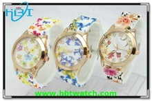 Promotion lady geneva flower watch with different style and color