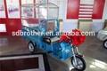 500w rickshaw triciclo eléctrico con techo y el asiento de pasajeros