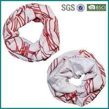 Customized dye sublimated pure white tube scarf bandana