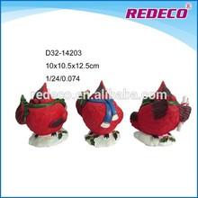 ornamento de la navidad de resina de aves de la figura