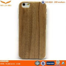 TPU case IMD craft wooden fancy cell phone cover case for iphone6 & plus