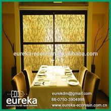 Deco resin panel acrylic dinning room colorful wall panels