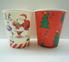 christmas tree paper cup