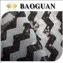 2015 White And Black Sequin Fabric BG2483