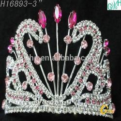 ovely beauty diamond pageant crown Wholesale fashion headdress
