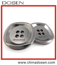High quality zamak material metal four holes sewing button for clothing/boton de metal para la ropa