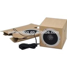 Foldable paper carton speaker, no electronic speaker