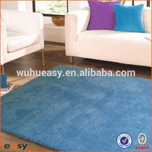 100% microfiber acid blue shaggy floor mats for home decoration