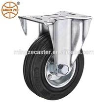 Black Rubber Fixed Standard industrial casters wheel