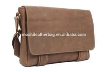 Retro Style Men Leather Messenger Bag