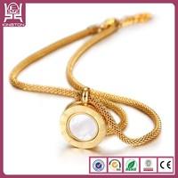 2014 Fashion 24k gold pendant Necklace