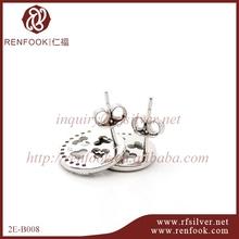 RenFook factory direct sale 925 sterling silver earring stopper back