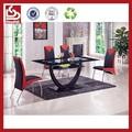 shudidi moda kırmızı ve siyah yemek masası