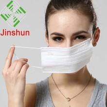 الأدوية والمستلزمات الطبية 3 رقائق المتاح غير المنسوجة قناع الوجه jinshun العلامة التجارية مصنع فى قوانغتشو