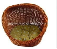 hotsale handmade natural wicker cat basket wicker dog basket wicker pet basket