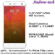 NO.1 Brand NO.1 MI4 MTK6582 Quad Core 1GB RAM 16GB ROM Android 4.4 Dual Camera 1:1 High Copy XIAOMI MI4 Smart Mobile Phone