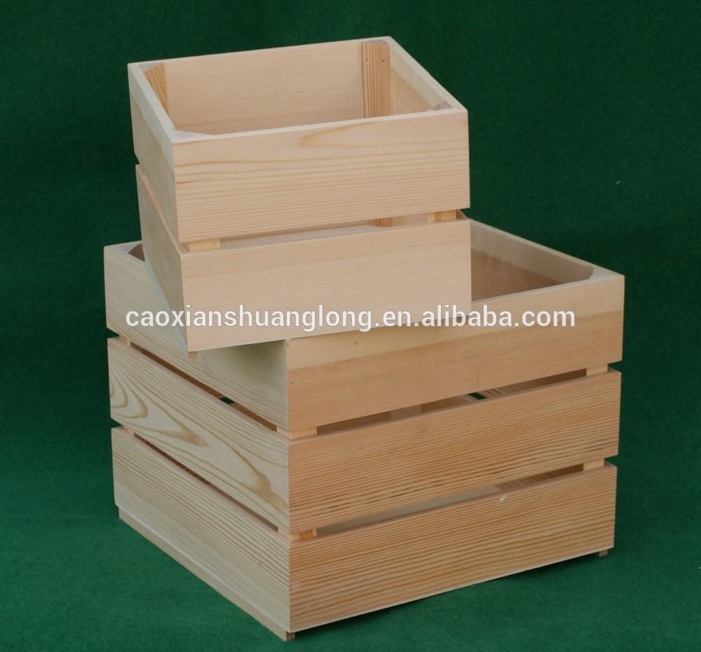 unfinished bois de pin vin caisses pas cher bois fruits. Black Bedroom Furniture Sets. Home Design Ideas