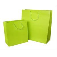Natural full color printing kraft t-shirt paper shopping bag