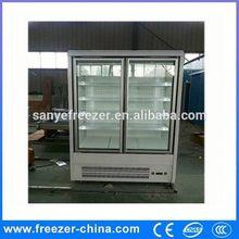 Sanye glass convenient mini cooler table top beverage fridge with CE certification QZ0.3L