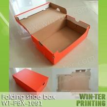 WT-PBX-1163 folding corrugate sneaker shoe box