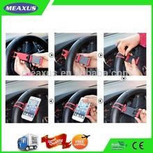 Multi-functional Mobile Phone Holder /Mount /Clip /Buckle Socket Hands Free On Car Steering Wheel - Providing Better View