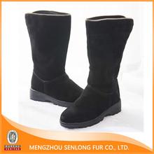 warming real sheep natural wool snow boot