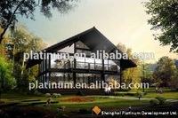Glass Curtain Wall Steel Prefabricated House