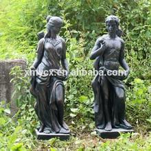 bronzo antico statua in vetroresina donne nude uomo immagine