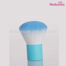 cute beautiful blue handle blue head powder blush kabuki makeup brush