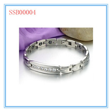 Shiny beauty cool fashion top sales stainless steel magnetic bracelet jewelry