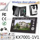 "Home Security 7""Monitor LCD Video Door Bell Intercom System Night Vision Hidden Camera Talk Picture Remote Unlock Key door phone"