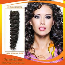6A grade dark brown hair high quality 100% unprocessed brazilian human virgin hair extensions