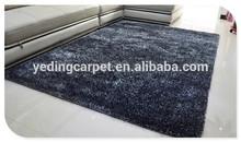 Black and Gray soundproof high pile children Plain Shaggy Carpet